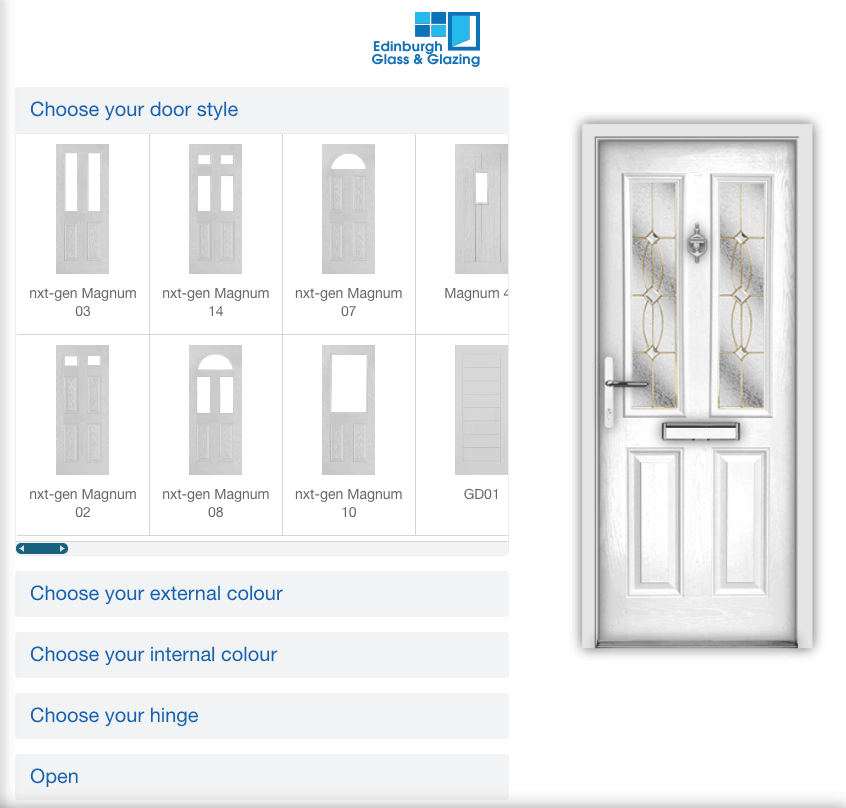 design your own door
