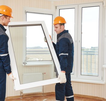 The installation of uPVC Windows
